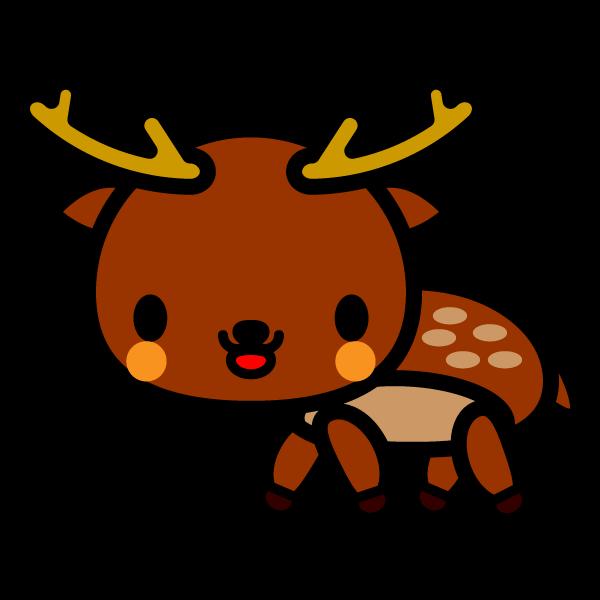 かわいい鹿の無料イラスト・商用フリー