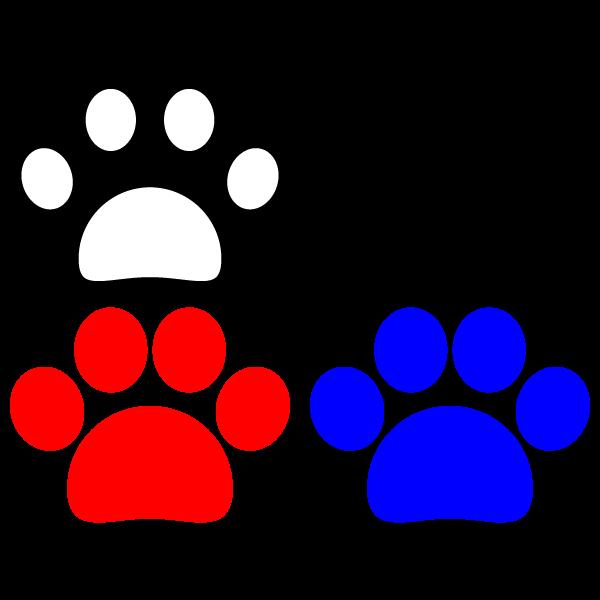 かわいい犬の足跡の無料イラスト・商用フリー