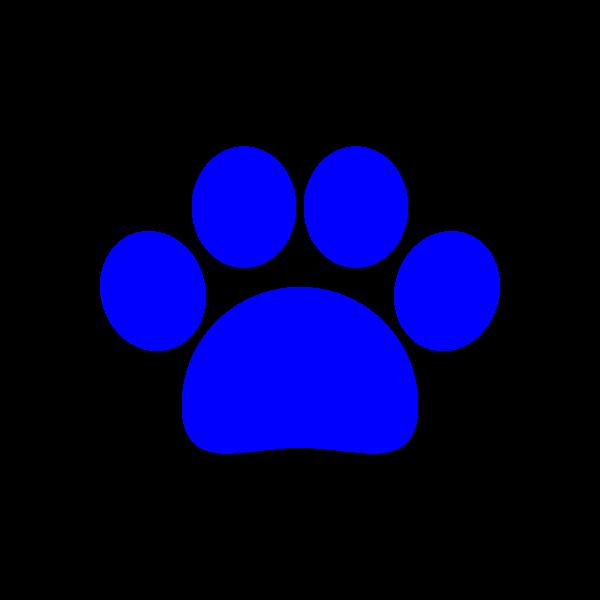可愛い犬の足跡(青)