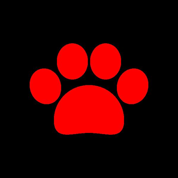 可愛い犬の足跡(赤)