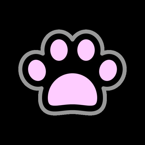 可愛い犬の肉球(黒)