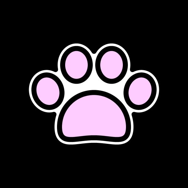 可愛い犬の肉球(白)