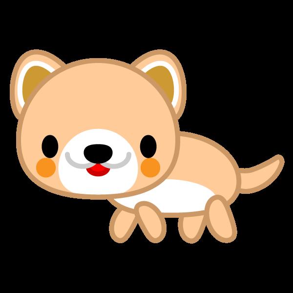 ソフトタッチでかわいい犬の無料イラスト・商用フリー