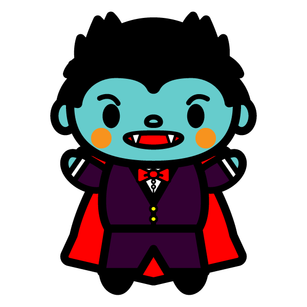 かわいいドラキュラ(吸血鬼)の無料イラスト・商用フリー