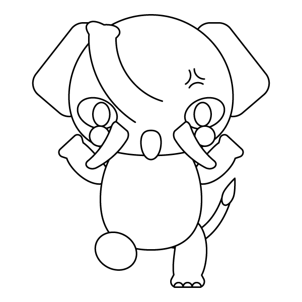 elephant_angry-blackwhite