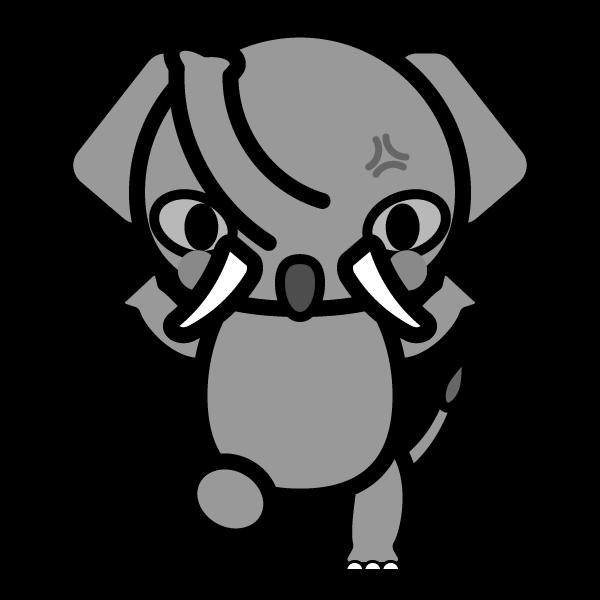 elephant_angry-monochrome