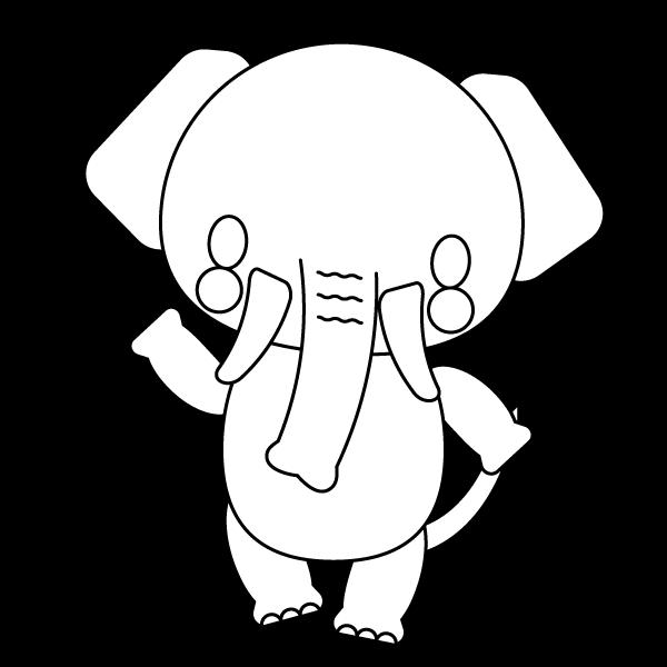 elephant_enjoy-blackwhite