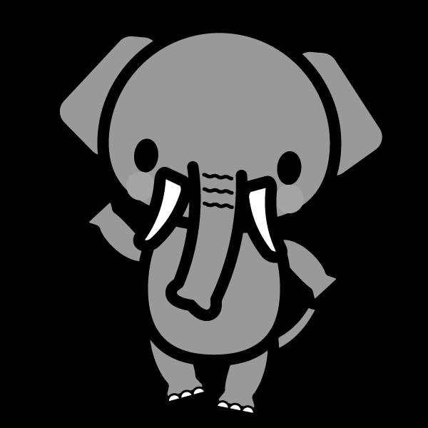 elephant_enjoy-monochrome