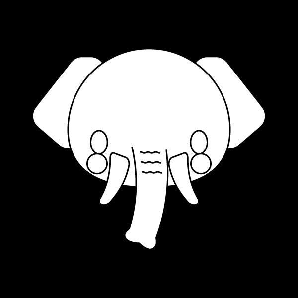 elephant_face-blackwhite
