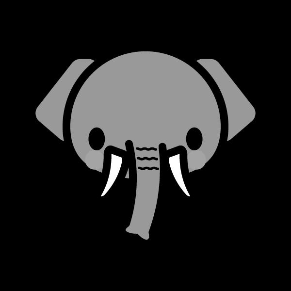 elephant_face-monochrome