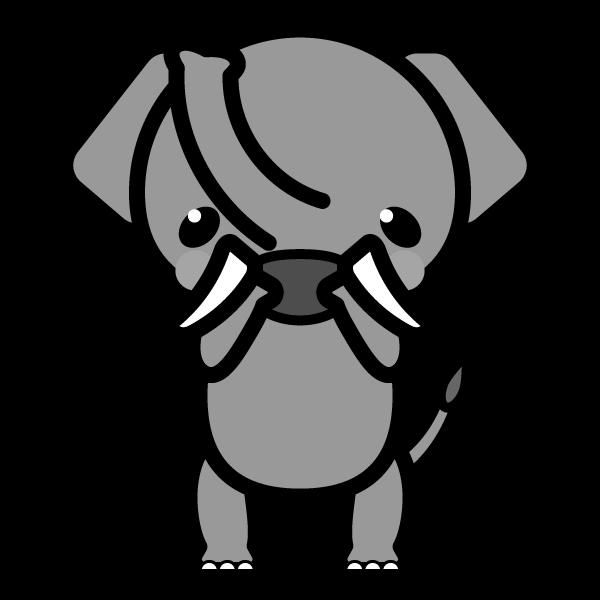 elephant_glad-monochrome