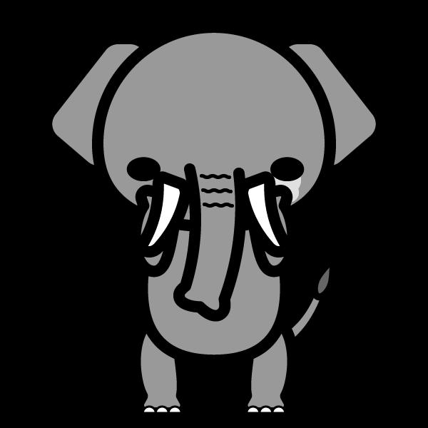 elephant_sad-monochrome