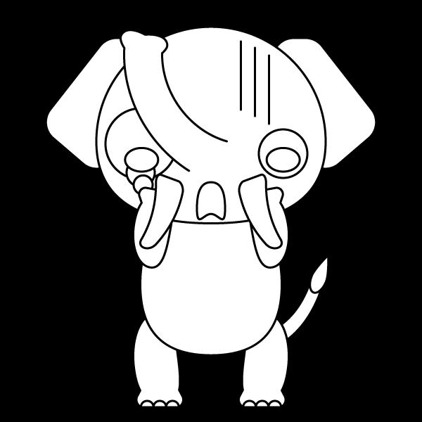 elephant_shock-blackwhite