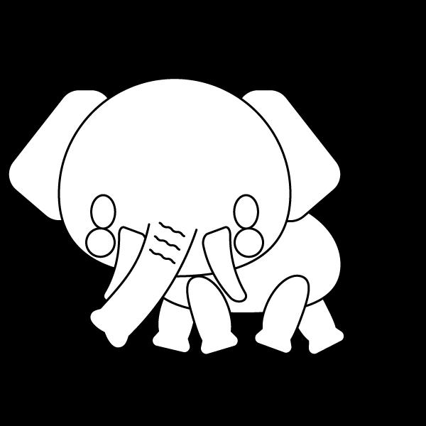 elephant_side-blackwhite