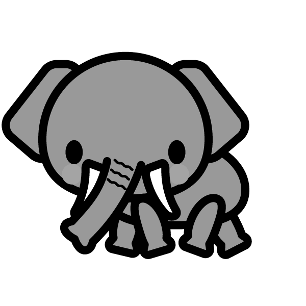 elephant_side-monochrome