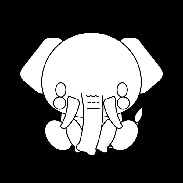 elephant_sit-blackwhite