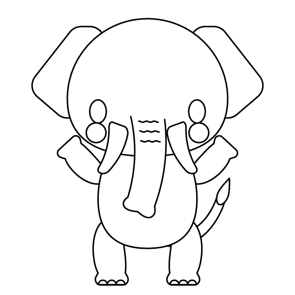 elephant_stand-blackwhite