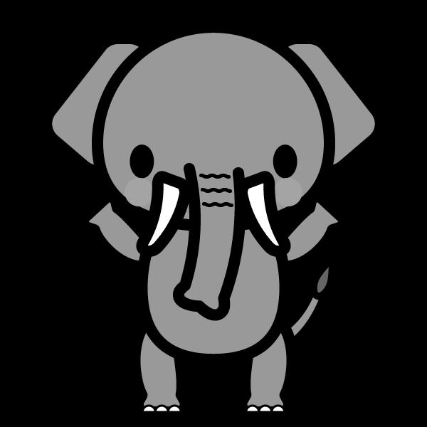 elephant_stand-monochrome