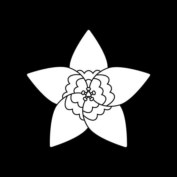 塗り絵に最適な白黒でかわいいりんどうの花の無料イラスト・商用フリー