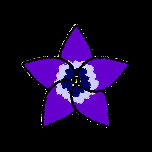 手書き風でかわいいりんどうの花の無料イラスト・商用フリー