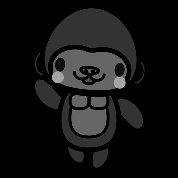 gorilla_enjoy-monochrome