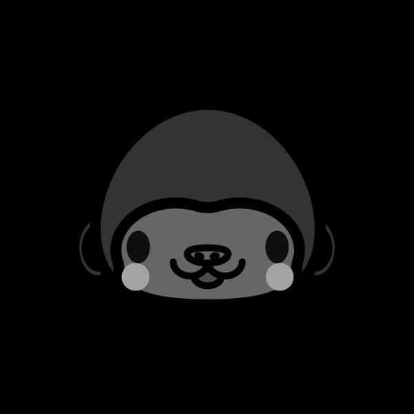 gorilla_face-monochrome