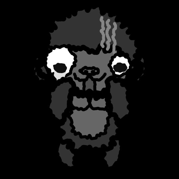 gorilla_fear-monochrome