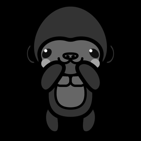 gorilla_glad-monochrome