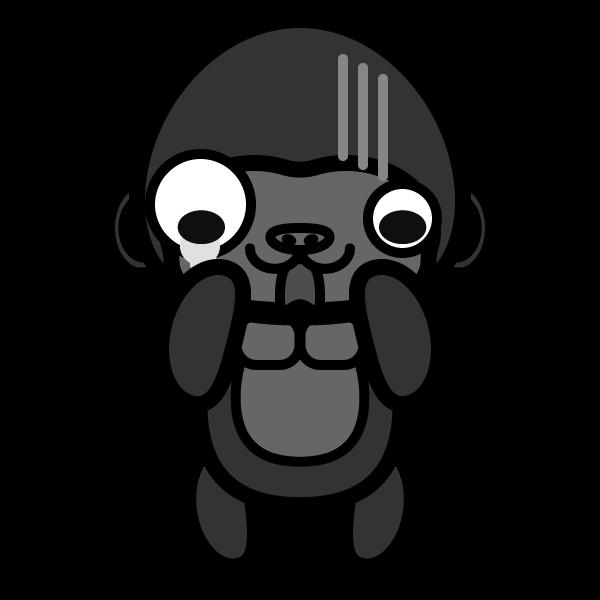 gorilla_shock-monochrome