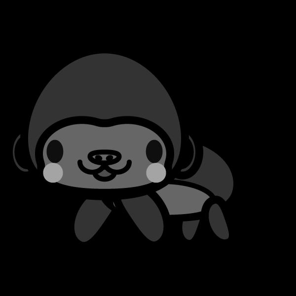gorilla_side-monochrome