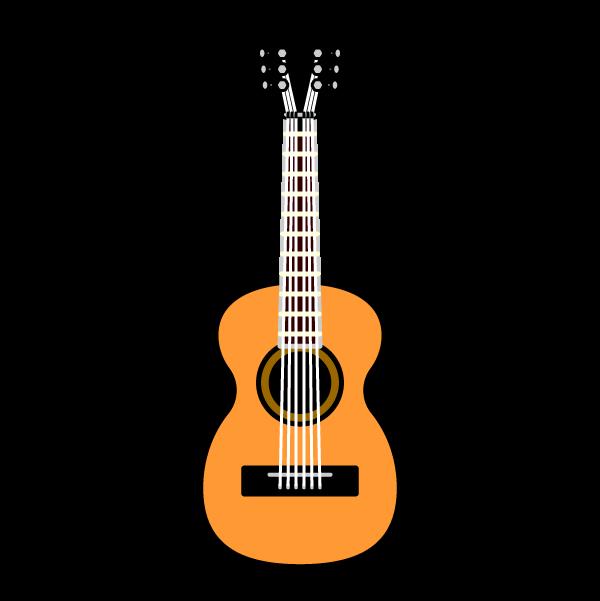 かわいいアコースティックギターの無料イラスト・商用フリー