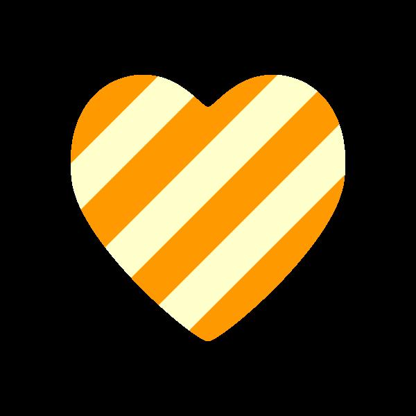 heart2_stripe-orange-nonline