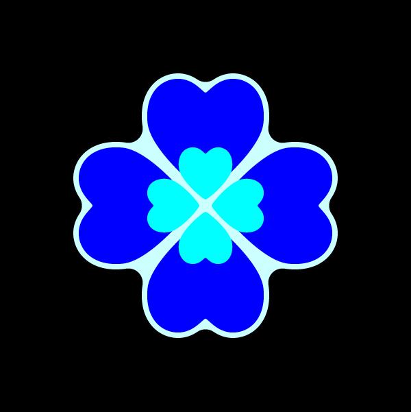 heart_clover-blue