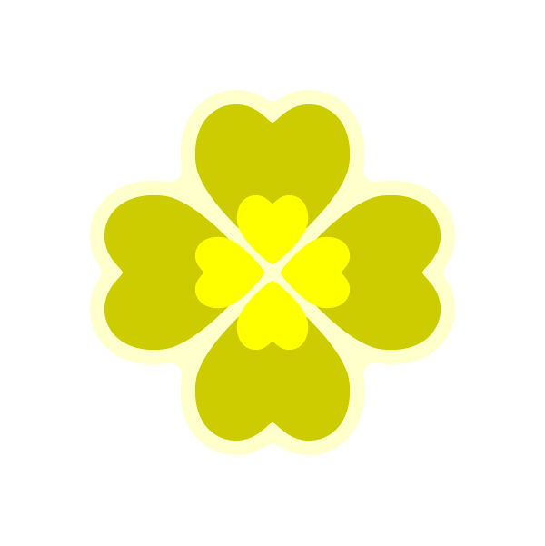 heart_clover-yellow-nonline