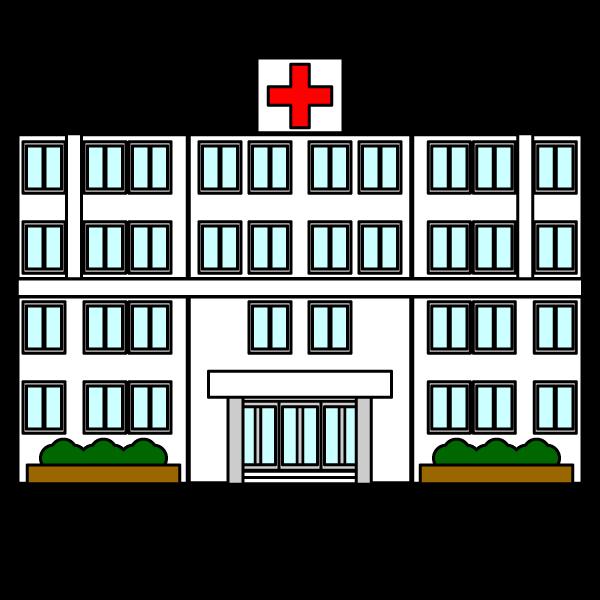 かわいい病院の無料イラスト・商用フリー