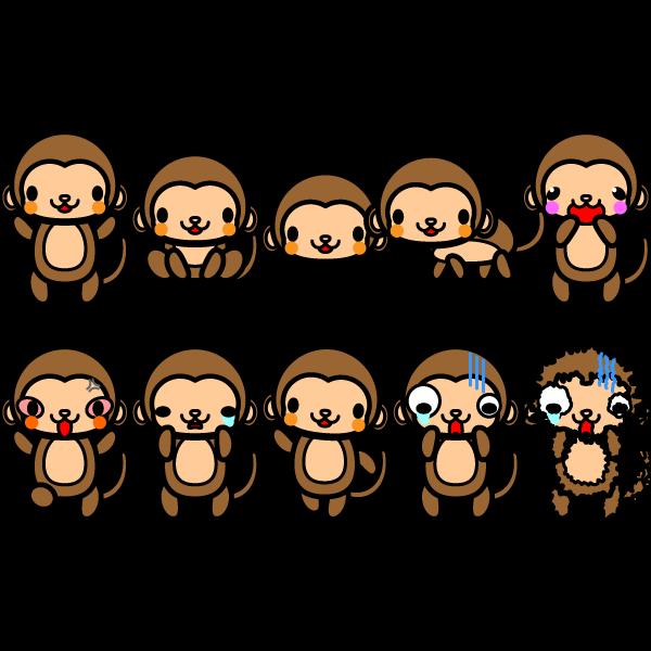 かわいい猿の無料イラスト・商用フリー