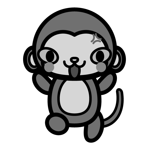 monkey_angry-monochrome