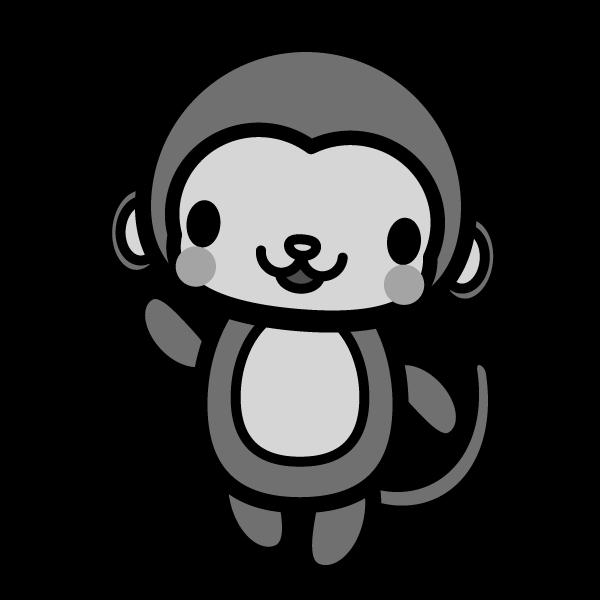 monkey_enjoy-monochrome
