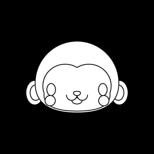 monkey_face-blackwhite