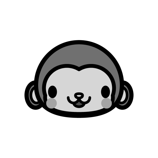 monkey_face-monochrome