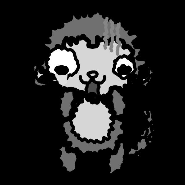 monkey_fear-monochrome