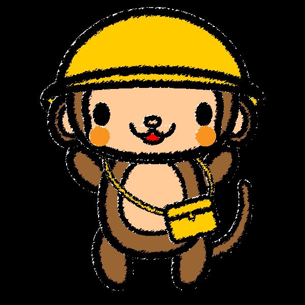 手書き風でかわいい保育、幼稚園児・猿の無料イラスト・商用フリー