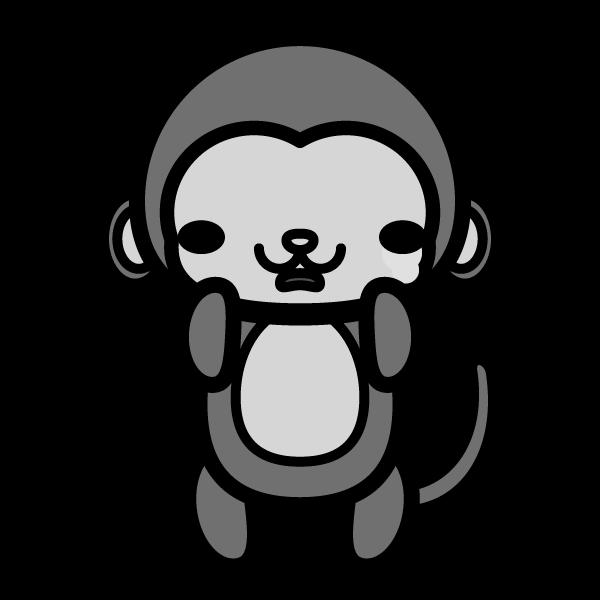 monkey_sad-monochrome