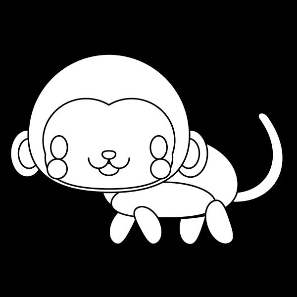 monkey_side-blackwhite