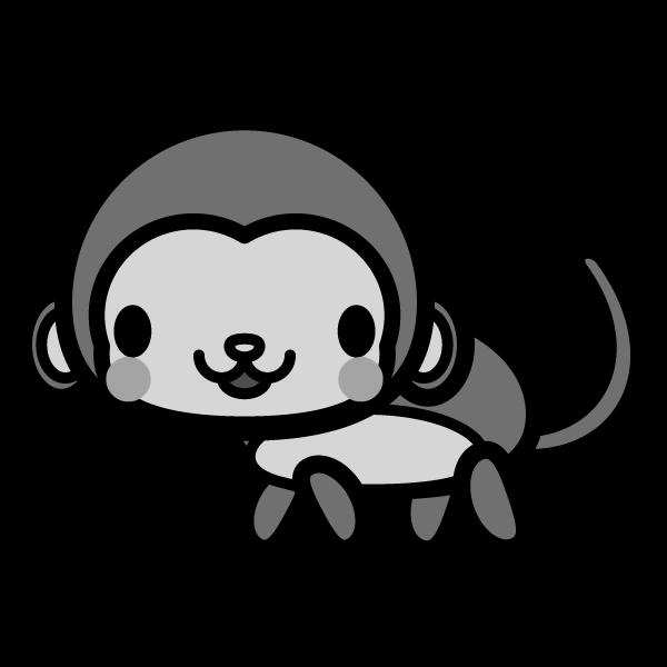 monkey_side-monochrome