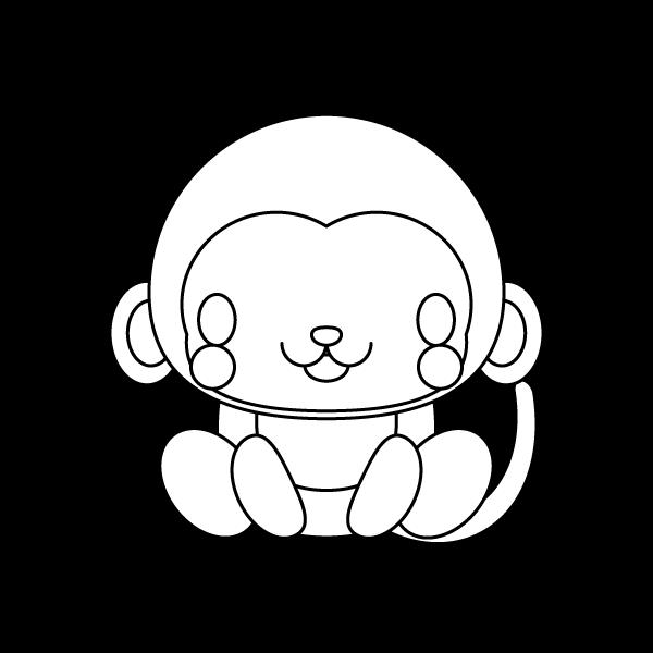 monkey_sit-blackwhite