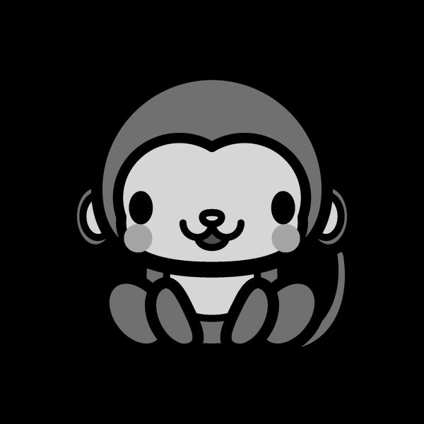 monkey_sit-monochrome
