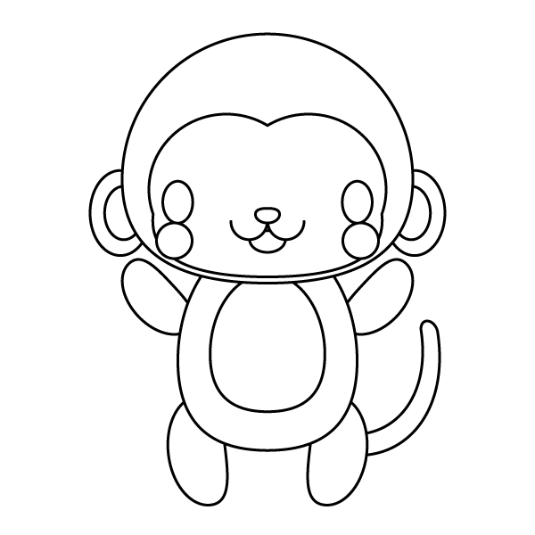 monkey_stand-blackwhite