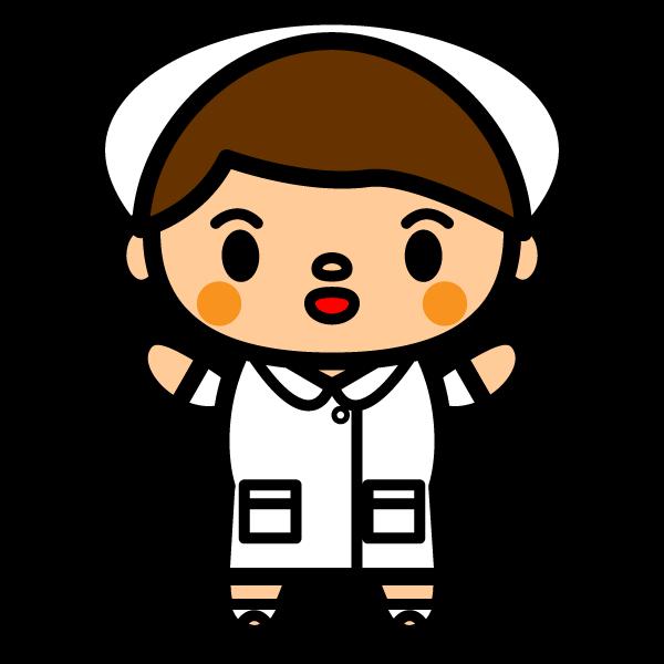 かわいい看護師(看護婦)の無料イラスト・商用フリー