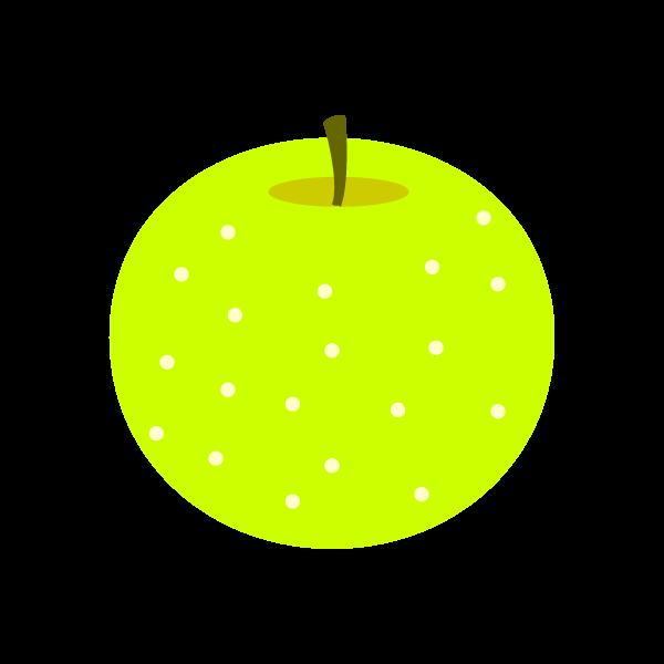 縁無しでかわいい梨の無料イラスト・商用フリー